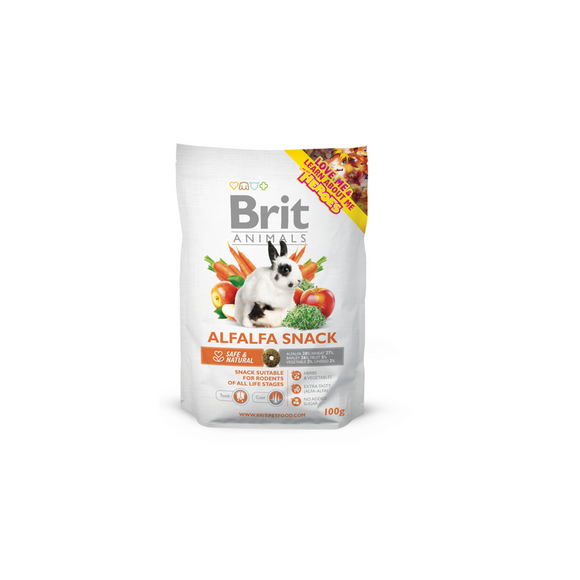 Brit Animals<br>ALFALFA SNACK<br><i>RÁGCSÁLÓ</i>