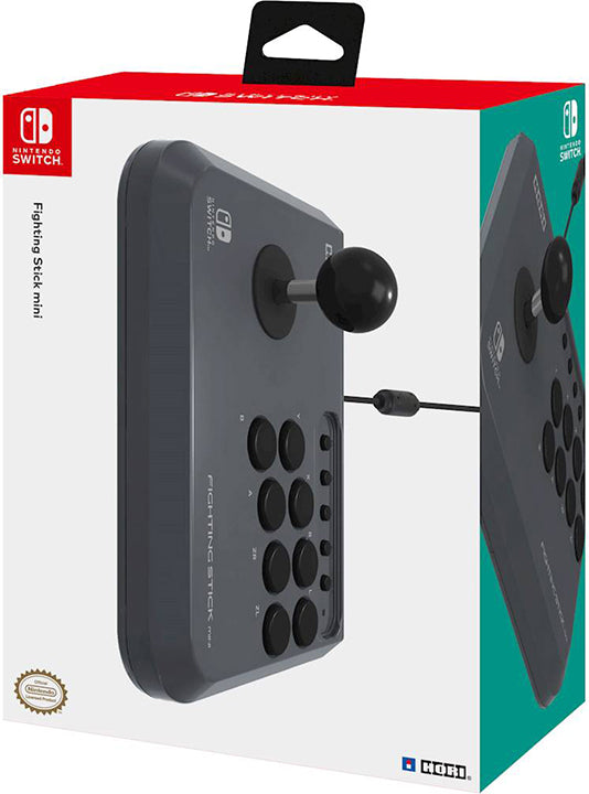 Switch Hori Controller Fighting Stick Mini Grey