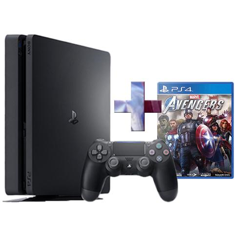 PS4 Console 500GB F ChassisSlim Black + PS4 Marvel's Avengers