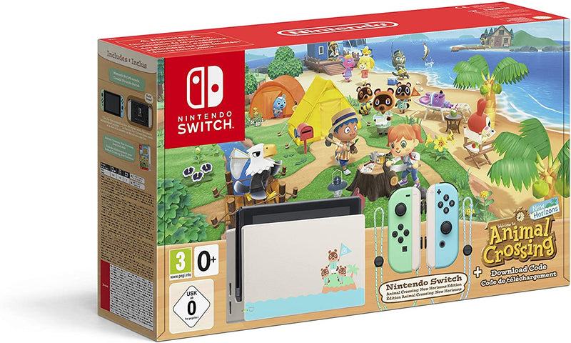 Switch Console 1.1 Limited Ed. Animal Crossing + Animal Crossing: New Horizons