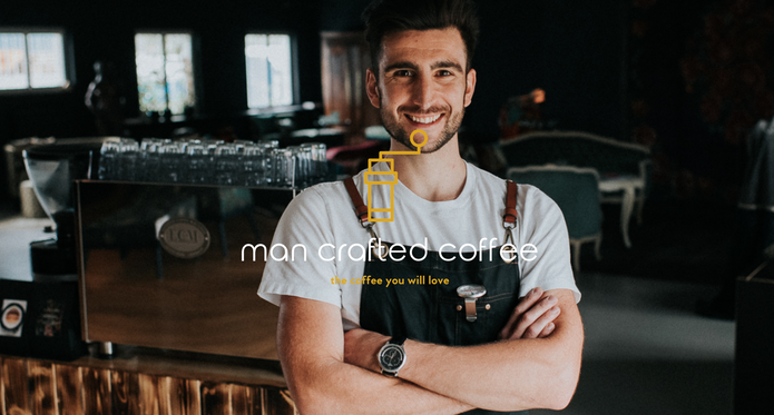 man crafted coffee
