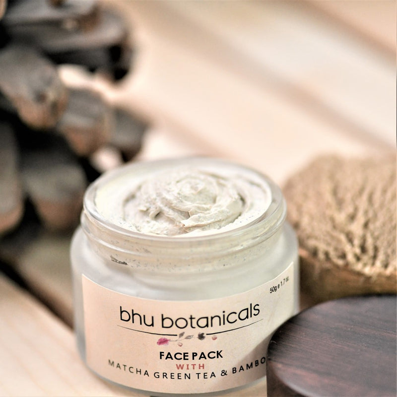Skin Brightening Face Pack (with Matcha Green Tea & Bamboo) 50g