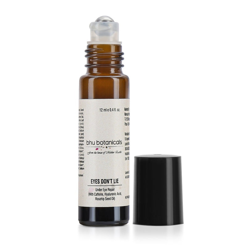 Eyes Don't Lie - Under Eye Roll On ( With Hyaluronic Acid, Rosehip Seed Oil & Caffeine) 12ml