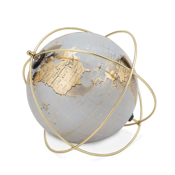 Globe in Wire Stand