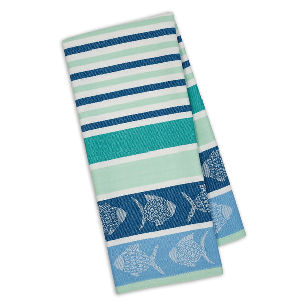 """Deep Sea Stripe"" Jacquard Dishtowel"