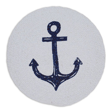 Anchor Print Braided Placemat