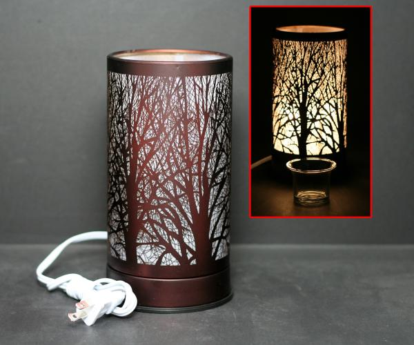 Touch Sensor Lamp with Scented oil holder- Copper Forrest