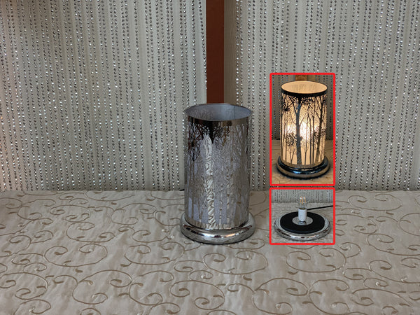 Touch Sensor LED Lamp-Silver Tree