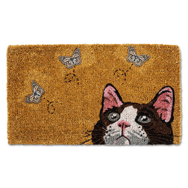 Cat with Butterflies Doormat