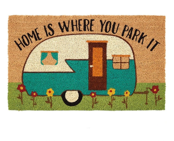 """Home Is Where You Park It"" Doormat"
