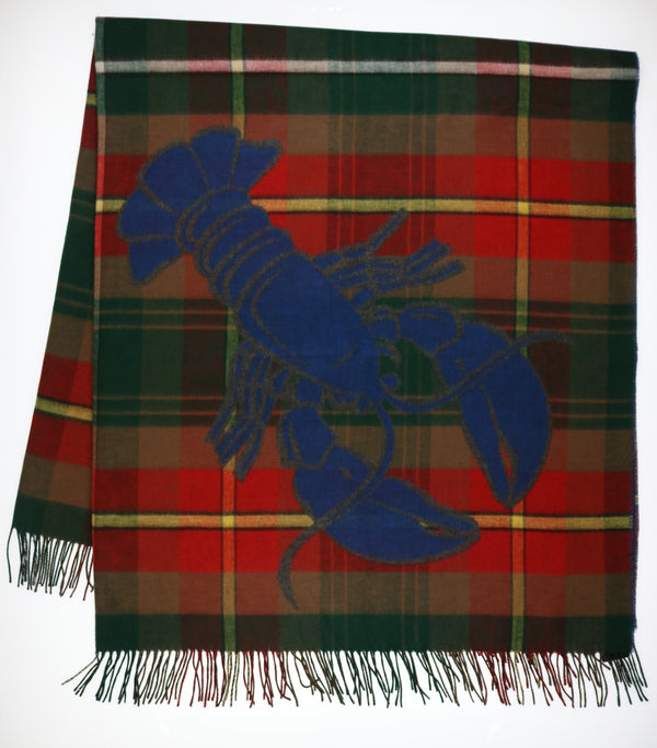 PEI Tartan Lobster Throw