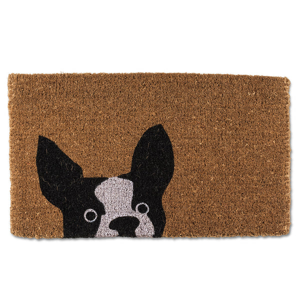 Peeking Dog Doormat