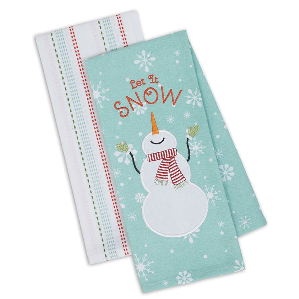 Let it Snow Dishtowel Set of 2
