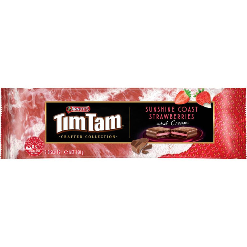 Arnott's Tim Tam Sunshine Coast Strawberry & Cream Biscuit