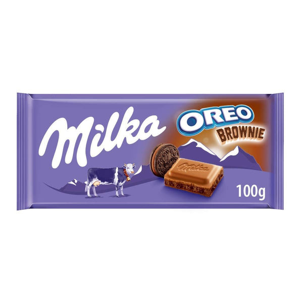 Milka Oreo Brownie Chocolate Bar