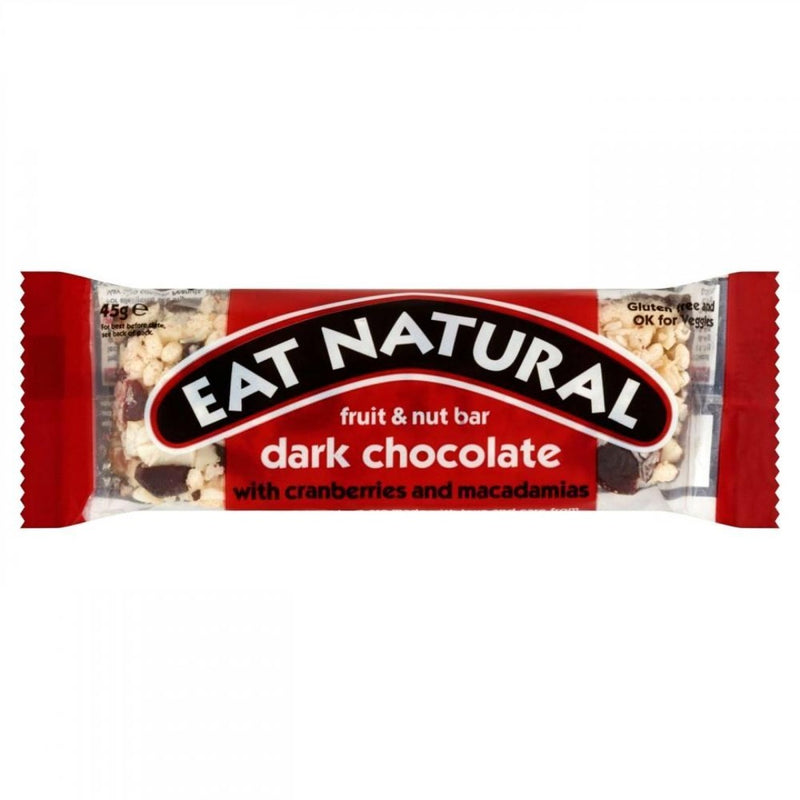 Eat Natural Fruit & Nut Bar Dark Chocolate with Cranberries and Macadamias