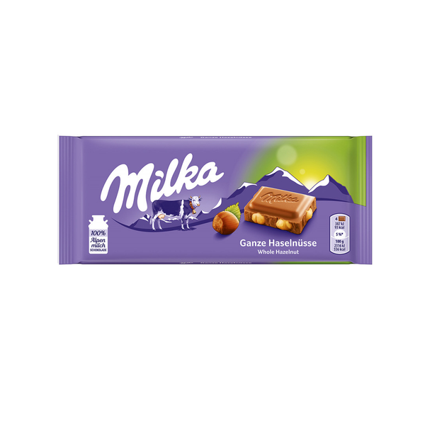 Milka Hazelnut Chocolate Bar