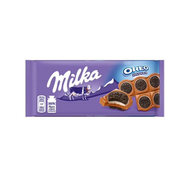 Milka Oreo Sandwich Chocolate Bar (100g)