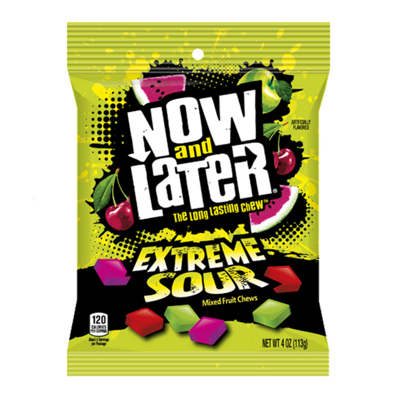 Now And Later Extreme Sour- Mixed Fruit Chews