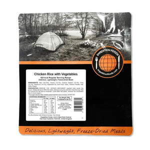 Expedition Foods Chicken Rice with Vegetables (450kcal) - Regular Serving-Tamworth Camping
