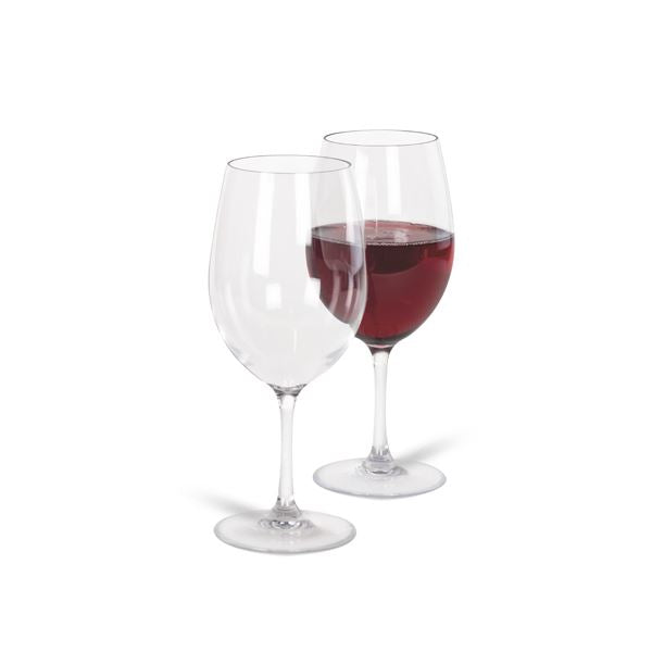 Kampa Noble Polycarbonate White Red Glass 600ml Twin Pack