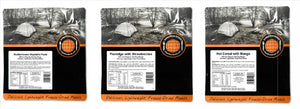 Expedition Foods 450kcal Vegetarian Regular - 3 Meal Tasting Pack-Tamworth Camping