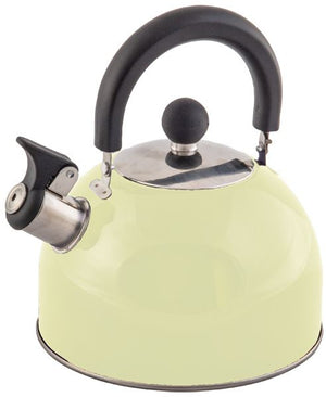 Stainless steel 2L whistling kettle Cream-Tamworth Camping