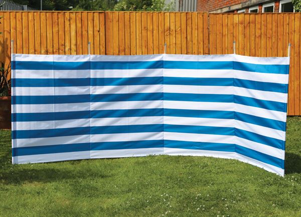 Quest Orkney 5 Pole Blue Stripe Windbreak