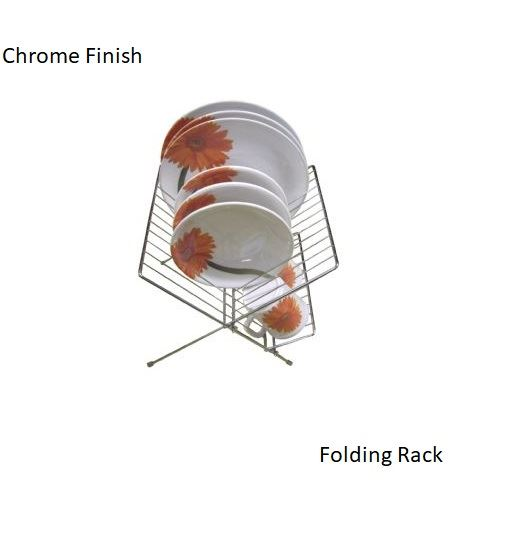 Chrome Folding Plate Rack By Grove kitchenware Household-Tamworth Camping