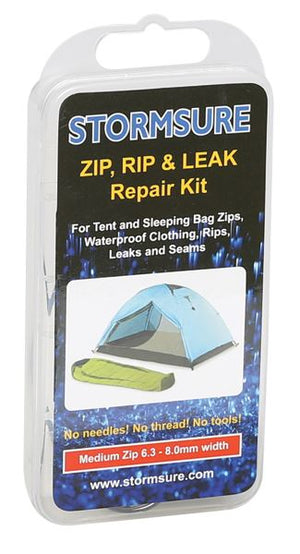 Stormsure Zip 8mm Plastic toothed zip repair kit-Tamworth Camping