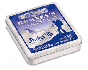 Romneys Kendal Mint Cake POCKET TIN 2X85G WHITE MINTCAKE-Tamworth Camping