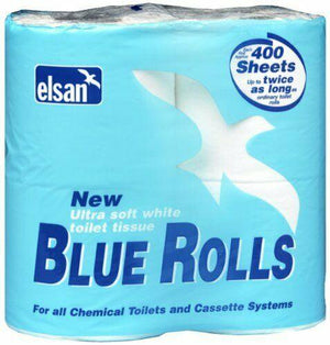 Elsan Blue Toilet Rolls pack of 4 for Chemical Toilets-Tamworth Camping