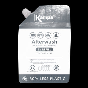Kampa Eco Friendly Afterwash Protective Coating 1L Refill Pouch-Tamworth Camping