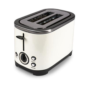 Kampa Deco Cream Stainless Steel 2 Slice Toaster - Low Wattage-Tamworth Camping