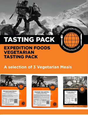 Expedition Foods 800kcal Vegetarian - 3 Meal Tasting Pack-Tamworth Camping
