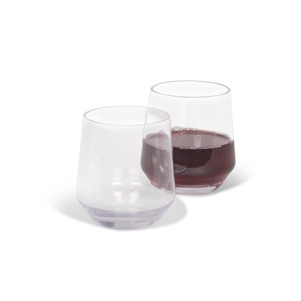 Kampa Soho Polycarbonate Tumbler / Stemless Wine Glass 350ml Twin Pack