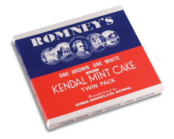 Romneys Kendal Mint Cake Large Twin Pack - Brown & White 340g