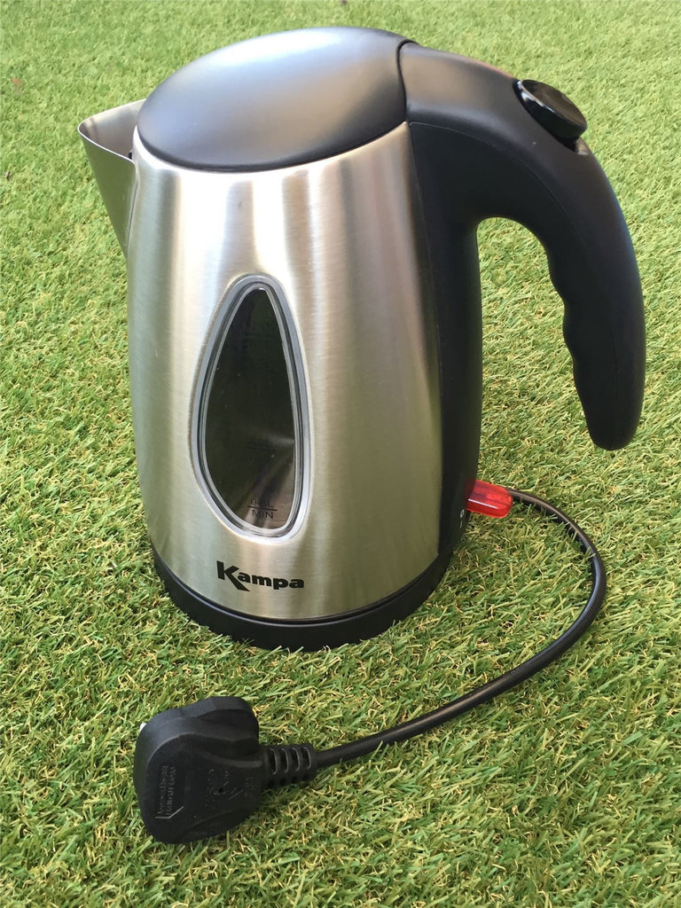Kampa Fizz Low Wattage Stainless Steel Electric Kettle-Tamworth Camping