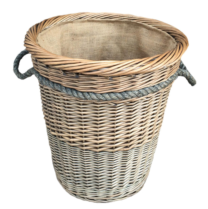 Vanilla Leisure Tall Deluxe Log Basket