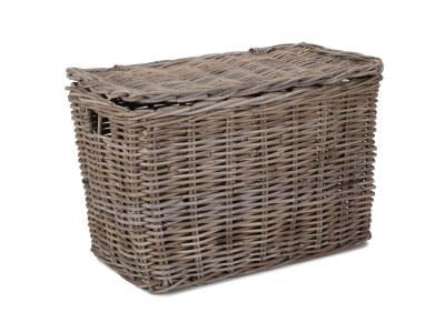 Vanilla Leisure Large Slim Rattan Storage Hamper