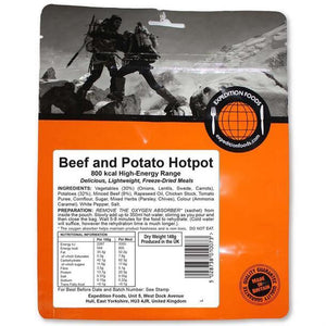 Expedition Foods Beef and Potato Hotpot (800kcal) - High Energy Serving-Tamworth Camping