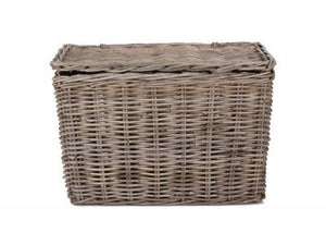 Vanilla Leisure Large Slim Rattan Storage Hamper-Tamworth Camping