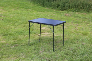 Quest Superlite black Burford table-Tamworth Camping