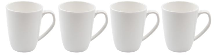 Kampa Blanco Melamine Mug Set - Pack of 4-Tamworth Camping