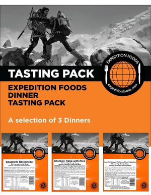 Expedition Foods Dinner Tasting Pack 3 Meal (800kcal High Energy)-Tamworth Camping