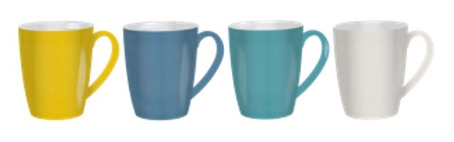 Kampa Heritage Melamine Mug Set - Mixed Colours