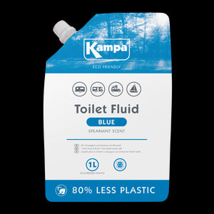 Kampa Eco Friendly Blue Toilet Fluid 1L Eco Pouch-Tamworth Camping
