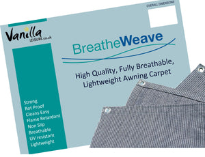 Vanilla Leisure Breatheweave Breathable Caravan Awning Groundsheet / Carpet-Tamworth Camping