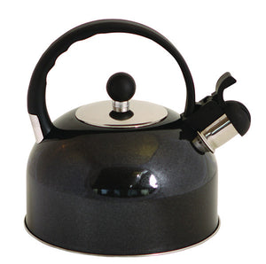 Quest 2.2ltr Whistling Kettle Black-Tamworth Camping