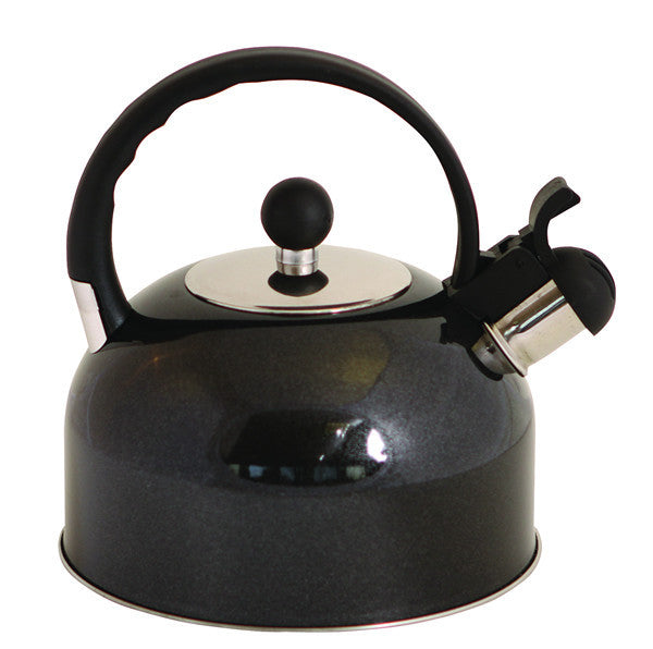 Quest 2.2ltr Whistling Kettle Black